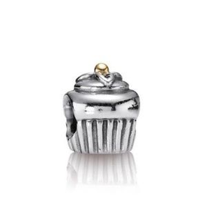 Authentic Pandora Cupcake Charm with 14 Karat Bead
